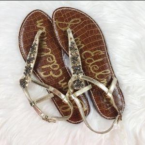 Sam Edelman gwyneth gold embellished sandals